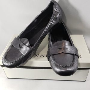 Etienne Aigner Candy Dark Pewter Loafers Size 9M